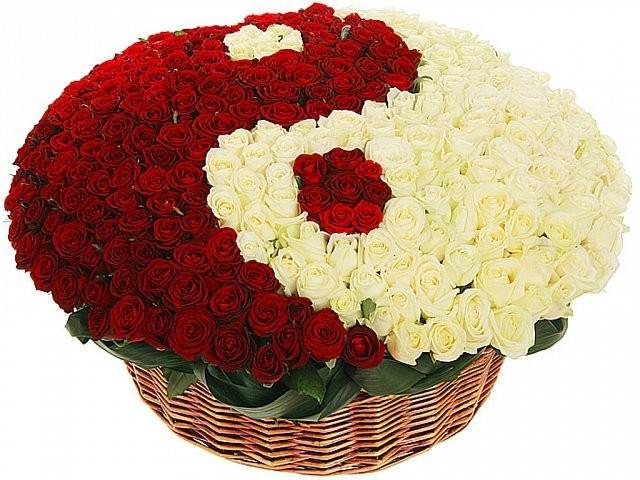 большой букет роз