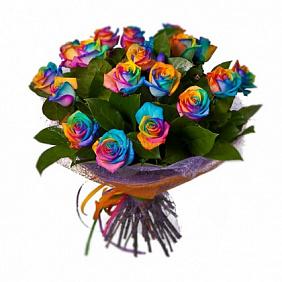 Радужные розы купить