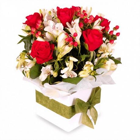Цветы в коробке Стих о тебе