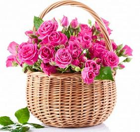 Купить кустовые розы в корзине с доставкой