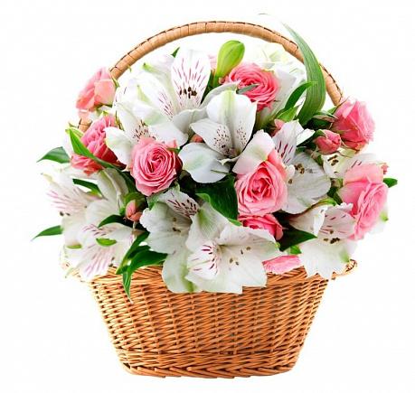 Цветы в корзине Нежность